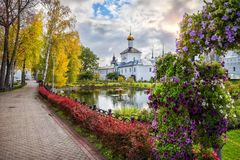Autumn in the Tolgsky Monastery in Yaroslavl Royalty Free Stock Image