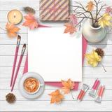 Autumn Top View Background illustration de vecteur