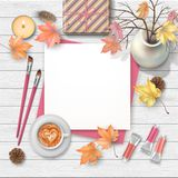 Autumn top view background vector illustration