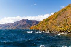 Autumn湖towada 免版税图库摄影