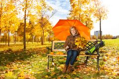 Autumn in town Royalty Free Stock Photo