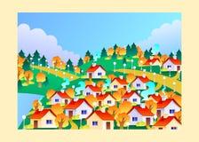 Autumn town Stock Image