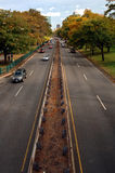 Autumn traffic Royalty Free Stock Image