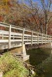 Autumn Trail Bridge Royalty Free Stock Photo