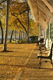 Autumn at the train station. Royalty Free Stock Photo