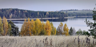 Autumn in a Trakai regional park of a Lithuania Royalty Free Stock Images
