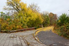 Parks of rest in autumn Royalty Free Stock Images