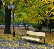 Parks of rest in autumn Royalty Free Stock Image