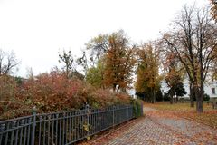 Parks of rest in autumn Royalty Free Stock Photo