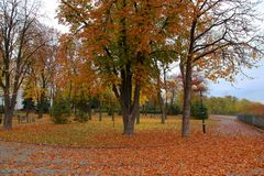 Parks of rest in autumn Stock Photography