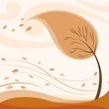Autumn tree. Abstract style autumn tree vector royalty free illustration