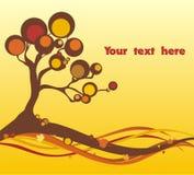 Autumn tree. Autumn illustration of a tree silhouette Stock Photos