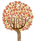 Autumn tree. A vector illustration of an autumn tree Stock Image