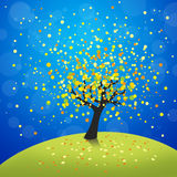 Autumn tree. Colorful abstract autumn tree illustration Stock Images