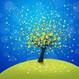 Autumn tree. Colorful abstract autumn tree illustration royalty free illustration