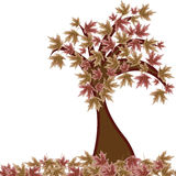 Autumn tree. Against white background, abstract vector art illustration Stock Photo