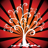 Autumn tree. And leafs - vector illustration Royalty Free Stock Photo