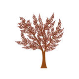Autumn tree. Elegant brown, purple and pink autumn tree Royalty Free Stock Image