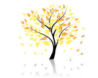 Autumn tree royalty free illustration