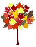 Autumn tree abstract. Symbolistic autumn tree vector illustration Royalty Free Stock Photos