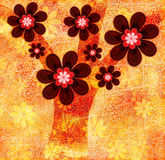 Autumn Tree Abstract Illustration Stock Foto