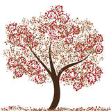 Autumn Tree. An abstract illustration of a tree Stock Images