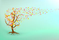 Autumn tree background. EPS 8 file included royalty free illustration