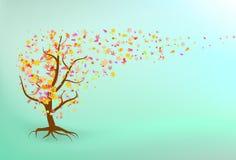 Autumn tree background. Royalty Free Stock Photo
