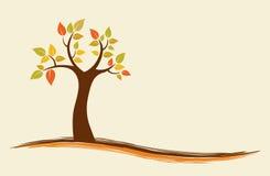 Autumn Tree Background. Vector background of an abstract autumn tree stock illustration