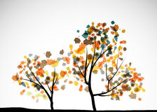 Autumn tree background. It is an autumn tree background royalty free illustration