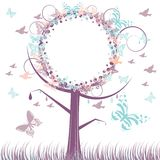Autumn tree background. With copy space isolated on a white background stock illustration