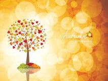 Autumn tree background. Season concept vector illustration royalty free illustration
