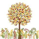 Autumn Tree Background coloré Image libre de droits