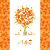 Autumn tree background from hearts Royalty Free Stock Photo