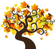 Autumn tree background. vector illustration Royalty Free Stock Photos