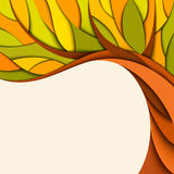 Autumn tree background. Vector illustration Stock Image