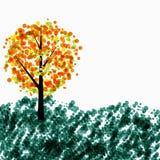 Autumn Tree Background Vector Illustration Stock Photos