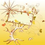Autumn tree billboard Royalty Free Stock Images