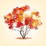 Autumn tree of blots. Background royalty free illustration