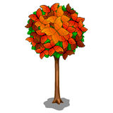 Autumn tree and butterflies as leaves. Vector Royalty Free Stock Photos