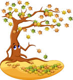 Autumn tree cartoon Royalty Free Stock Image