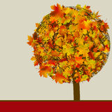 Autumn Tree | Concept card template. EPS 8 Stock Photography