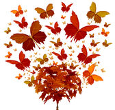 Autumn Tree Concept royalty free illustration