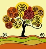 Autumn tree. defoliation leaf fall. Season Vector Illustration