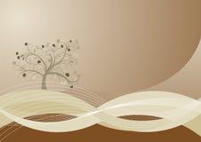 Autumn tree design. Beautiful abstract vector autumn tree design Stock Photos