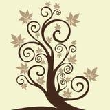 Autumn tree. Graphic element - seasonal illustration Stock Photo