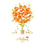 Autumn tree of hearts Stock Image