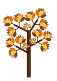Autumn tree illustration Royalty Free Stock Photography
