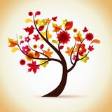 Autumn tree illustration Royalty Free Stock Photos