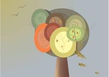 Autumn tree. Illustration Stock Photos